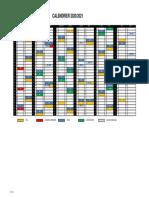 Calendriers  2020-2021 de Pro D2 et Top 14