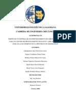 Memoria Técnica DISEÑO DE UN SISTEMA DE ACONDICIONAMIENTO DE AIRE DE PRECISIÓN PARA UN DATA CENTER