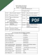 M.A Economics, Pune University - Sem III and  IV Syllabus (2009 Revised pattern)