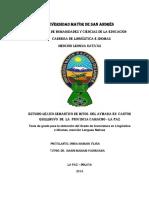 TESIS - Estudio lexico semantico de mitos del aymara en canton Quillihuyo de la provincia Camacho - La Paz