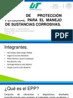 EPP Para Material Corrosivo