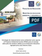 Sustentacion  -estrategia de mejoriamiento socioambiental IEAJDD