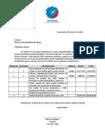 COTIZACION MUNICIPALIDAD SALCAJA PAGO SEMESTRAL 2019
