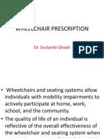 Wheelchair Prescription