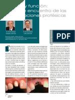Estética y Función Punto de Encuentro de Las Rehabilitaciones Protésicas