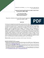 Avaliação empírica do emprego formal agropecuário na região Centro-Oeste no período de 2000 a 2008