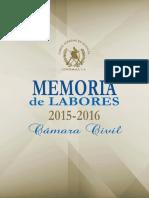 Memoria de Labores Cámara Civil (2015-2016)