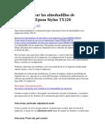 Como resetear las almohadillas de impresoras Epson Stylus TX120