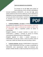 CONTRATO DE COMODATO DE AUTOMÓVEL