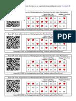 100 Tambola Tickets Printable Free Valentine Theme Qr Code