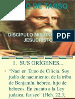 PABLO DE TARSO DISCÍPULO MISIONERO DE JESÚS