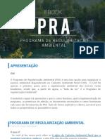 PRA - Programa de Regularização Ambiental
