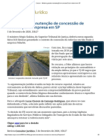 ConJur - Ministro garante manutenção de concessão de rodovia em SP