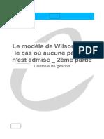 20_Le modèle de Wilson dans le cas où aucune pénurie n'est admise, 2ème partie