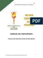 Manual Del Participante MUJER ERES LO QUE PIENSAS
