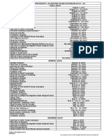 ACADEMIC YEAR CALENDAR 2019 - 2020 [July 16 2019 APVD]