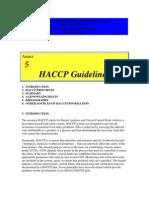HACCP Guidelines FDA