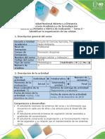 Guía de actividades y rúbrica de evaluación - Tarea 2 - Identificar la organización de las células.docx
