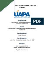 Tarea 6 La Educación Dominicana en la Segunda República..docx