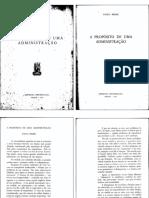 A Propósito de Uma Administração - Paulo Freire