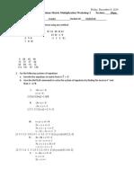 BMEN 1200 Matrix Multiplication Workshop 2