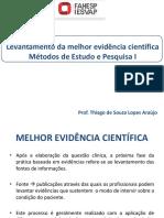 LEVANTAMENTO DA MELHOR EVIDeNCIA CIENTÍFICA
