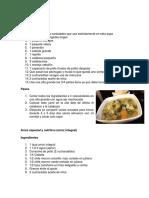 5 recetas nutritivas