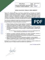 GGT-PL-GG-001 Política de Seguridad Salud en el trabajo y medio ambiente V9