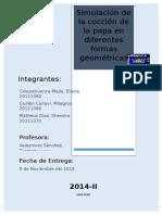 SIMULACION DEL CALENTAMIENTO DE LA PAPA
