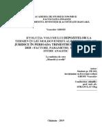 Studiu Evoluția depozitelor la termen în simestr 2 2018 pers juridice
