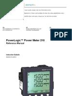 Manual medidor de potencia schineider