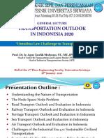 ATM. KULIAH UMUM JTSP FT UNSRI. INDONESIA TRANSPORTATION OUTLOOK. 18 JAN 2020. ENGLISH (1).pdf
