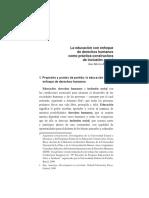 RODINO, A. La educación con enfoque de derechos humanos como práctica constructora de inclusión social