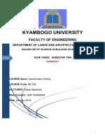 Specifcations Notes January  2019_ Paddy Mulamba (Lecturer, Kyambogo University)