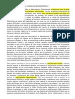 ADMINISTRACIÓN PÚBLICA Y DERECHO ADMINISTRATIVO Desde el punto de vista jurídico