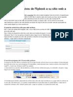 Cómo subir archivos de Flipbook a su sitio web a través de FTP