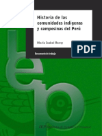 Historia de Las Comunidades Indigenas y Campesinas Del Peru