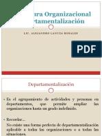 Estructura Organizacional Departamentalización