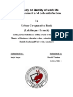 A Study on Quality of Work Life Environment and Job Satisfaction