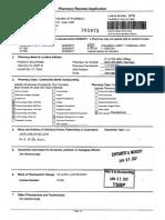 Pharmacy Renewal Application