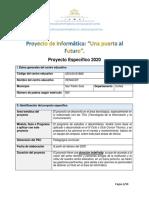 Proyecto de computacion para la departamental 2019-2020