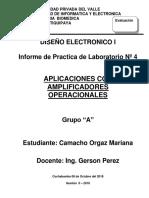 Informe N°4 Diseño Electronico