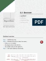 Quicksor Estructura de Datos