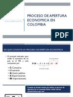 Proceso de apertura economica en Colombia