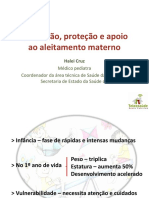 Promoção, proteção e apoio ao aleitamento materno