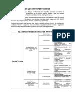 CLASIFICACION DE LOS ANTIHIPERTENSIVOS