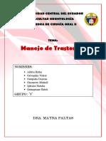 MANEJO DE TRASTORNOS