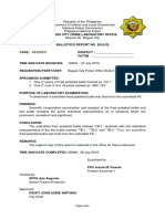 Ballistics Exam Report