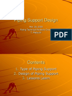 PIPING SUPPORT DESIGN