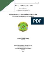 Paper Malaria, Demam Berdarah dan Cacing Pita Taenia Solium
